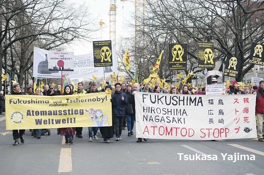 福島から 6 年かざぐるまデモ 2017 in Berlin-原発のない未来を!